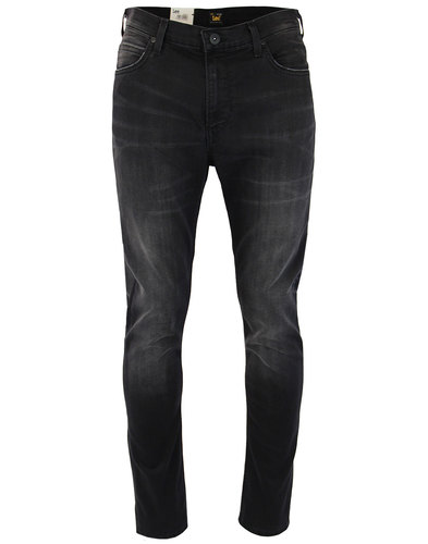 lee rider mens retro 70s black slash denim jeans