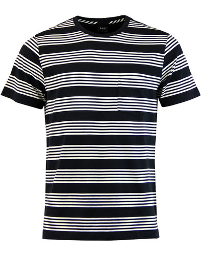 LEE Retro Indie Mod Block Stripe Pocket T-Shirt
