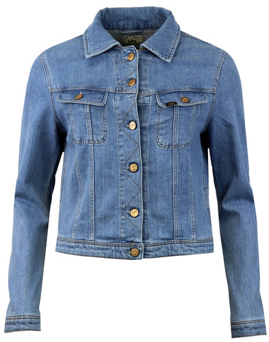 lee rider womens classic retro mod denim jacket
