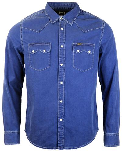 LEE JEANS SLIM RIDER SHIRT RETRO DENIM SHIRT