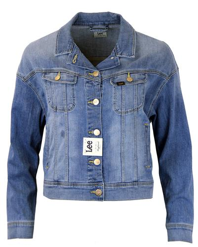 LEE JEANS WOMENS BOYFRIEND FIT DENIM JACKET