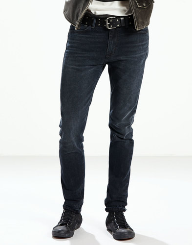 levis 510 retro skinny fit denim jeans night shift