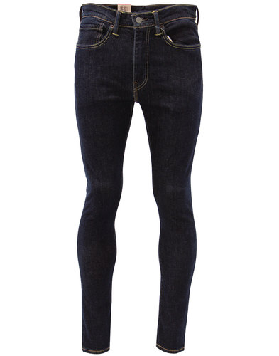 levis 519 retro mod extreme skinny jeans pipe blue