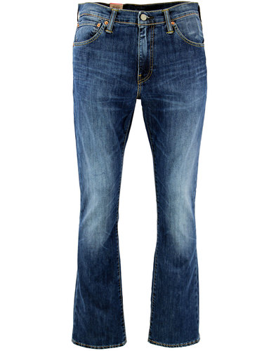 levis 527 mod slim boot cut jeans mostly mid blue