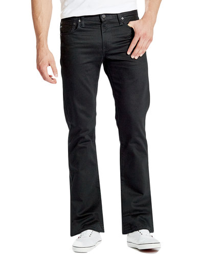 levis 527 retro black rinse denim bootcut jeans