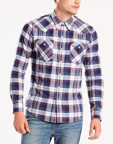 Barstow LEVI'S® Retro Check Western Shirt BLUE