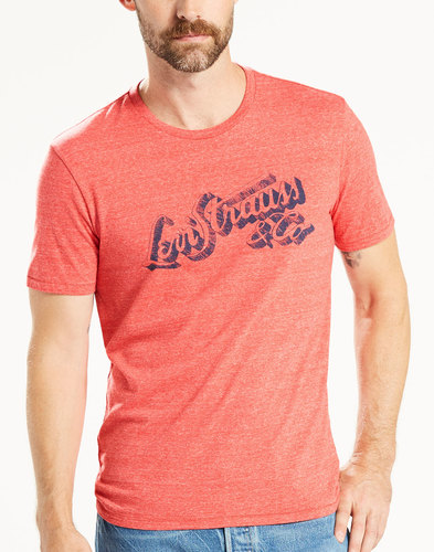 Woodmark LEVI'S® Retro 1970s Hand Drawn Logo Tee