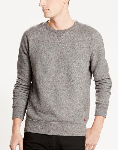 Levi's retro mod indie crew neck sweater grey
