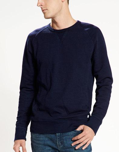 Levi's retro mod indie crew neck sweater navy