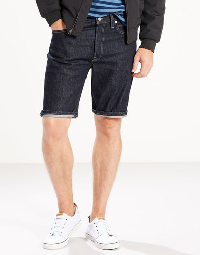 Levi's 501 Mens Denim Shorts Respect Indigo