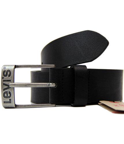 levis duncan retro 70s mod logo buckle belt black