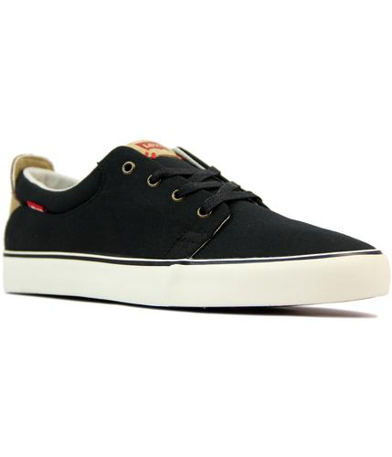levis justin low retro 70s indie canvas trainers