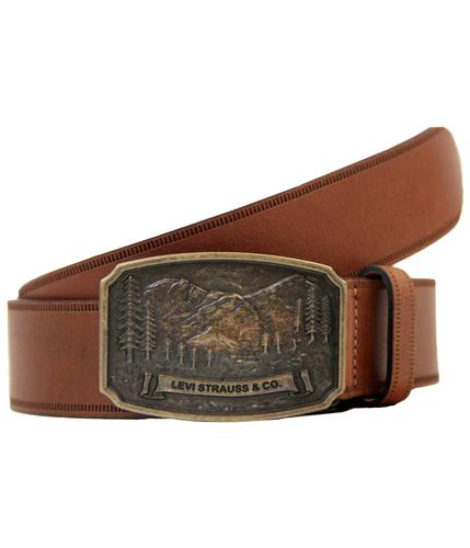 LEVIS RETRO MOD 4 MOUNTAIN VINTAGE BUCKLE BELT TAN