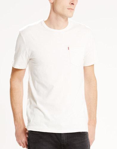 Levi's retro mod Sunset Pocket T-Shirt White