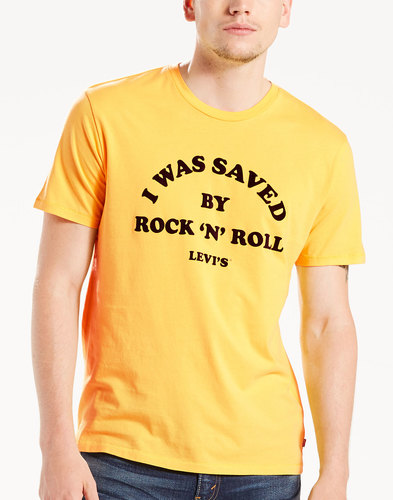Levi's Retro 70s Saved by Rock and Roll Tee