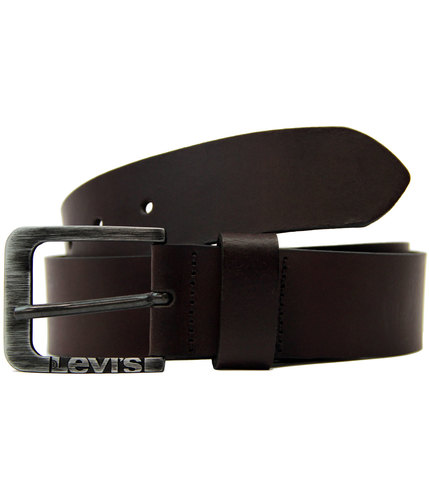 levis retro indie mod side logo buckle belt brown