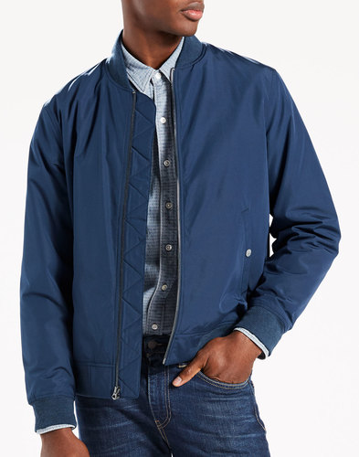 levis retro mod thermore bomber jacket dress blues