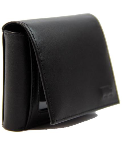 levis retro indie mod trifold leather wallet black