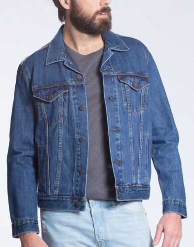Levi's Retro Mod Trucker Denim Jacket in Stonewash