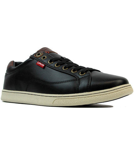 levis tulare retro indie red tab trainers black