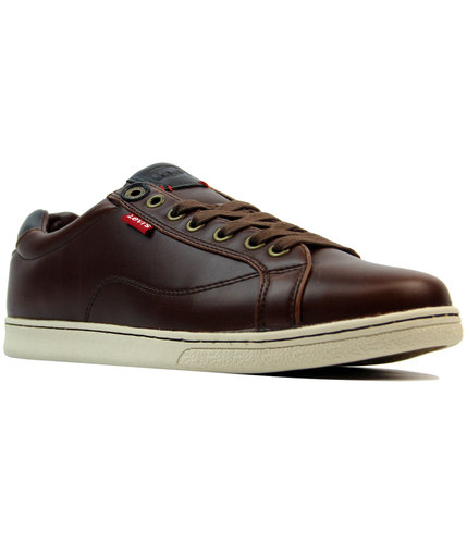 levis tulare retro indie red tab trainers brown