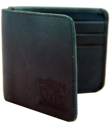 levis retro indie mod gatefold leather wallet navy