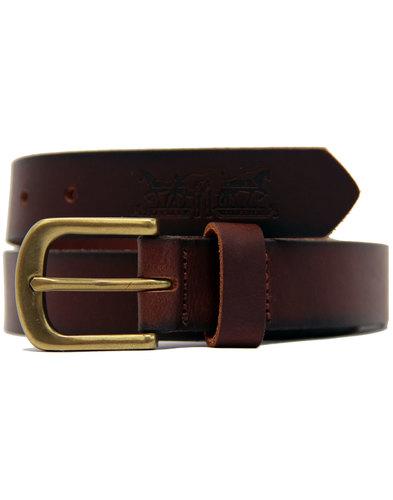 Woodland LEVI'S® Retro Matte Leather Belt BROWN