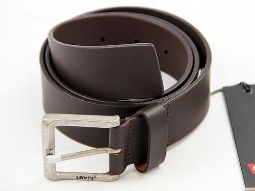 LEVI'S MENS RETRO MOD 70S MOTOR BELT BROWN