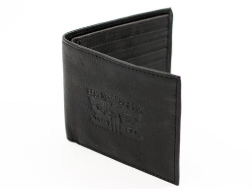 LEVI'S MENS RETRO MOD BILLFOLD HORSE WALLET BLACK