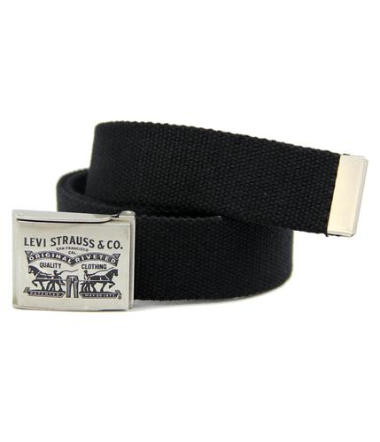 LEVI'S MENS BELTS WEBBING CANVAS BELT BLACK