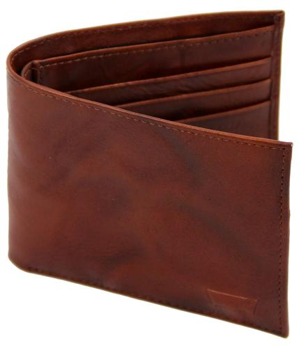 LEVI'S WALLETS RETRO CARD WALLET BROWN