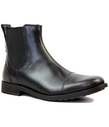 LEVIS RETRO MOD 60s CHELSEA BOOTS BLACK LEATHER