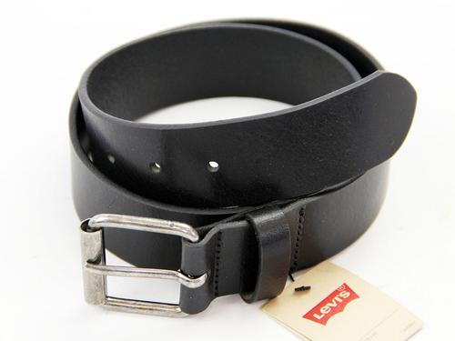 LEVI'S MENS RETRO WESTERN EMBOSSED LEATHER BELT