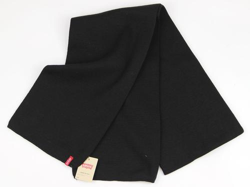 LEVI'S RETRO KNITTED SCARF LIMIT BLACK