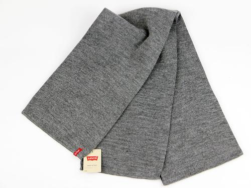 LEVI'S RETRO KNITTED SCARF LIMIT GREY