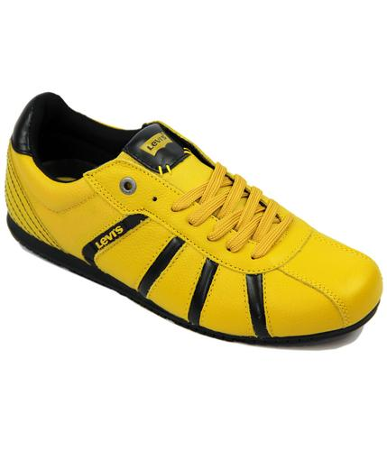 LEVI'S RETRO MOD 70S ALMAYER TRAINERS YELLOW