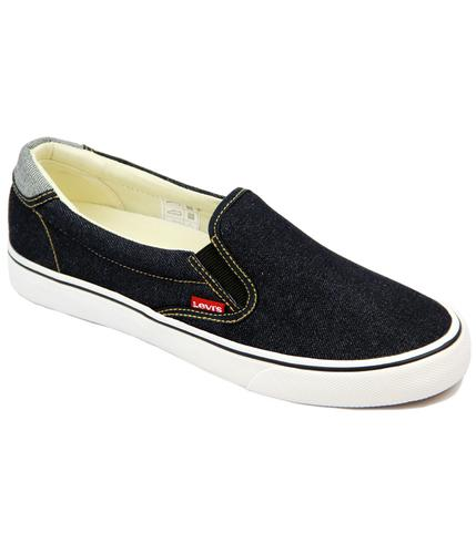 LEVIS RETRO MOD SLIP ON TRAINERS RED TAB