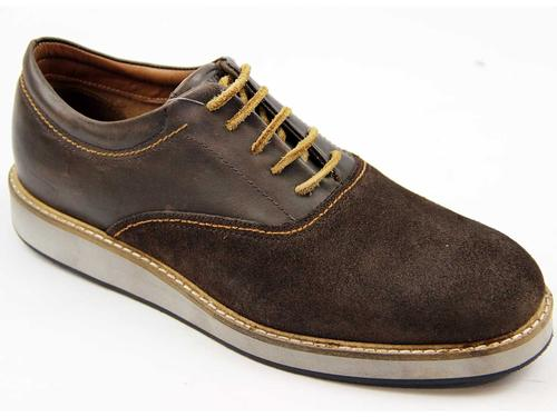 LEVI'S RETRO MOD MENS SUEDE AND LEATHER SHOES
