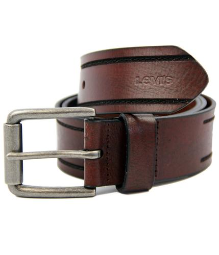 LEVI'S BELTS RETRO MOD TRAMLINE LEATHER BELT