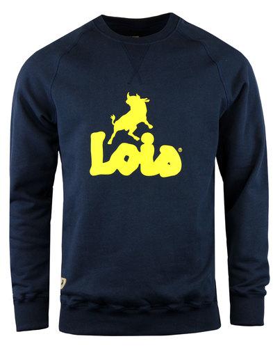 lois lisboa retro 1970s indie bull sweatshirt navy