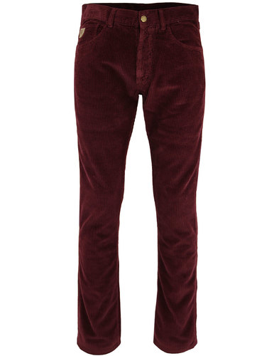 lois new dallas 60s mod jumbo cord trousers bordo