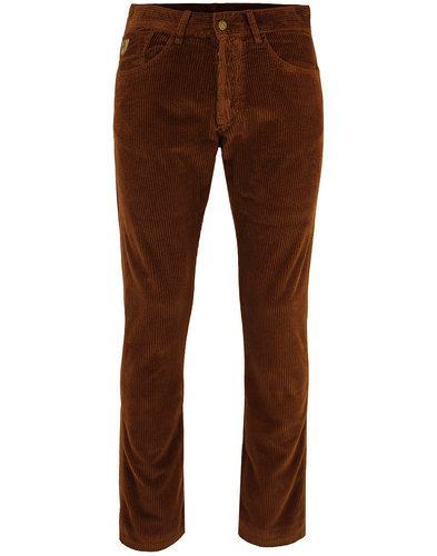 lois new dallas retro mod jumbo cord trousers tan