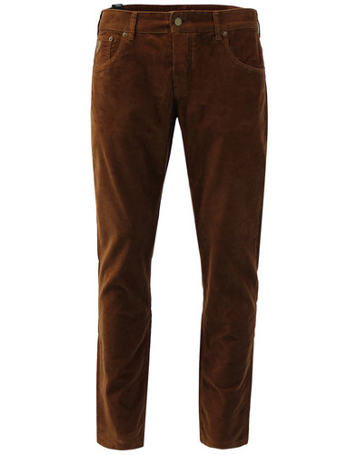 Sierra LOIS Mod Casuals Needle Cord Trousers BROWN