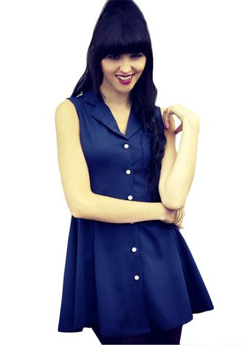 Charlotte LOVESTRUCK Retro Button Up Skater Dress