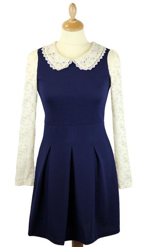 LOVESTRUCK RETRO MOD LACE 60s MOD DRESS MARY