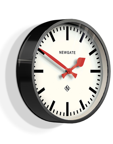 newgate luggage wall clock black