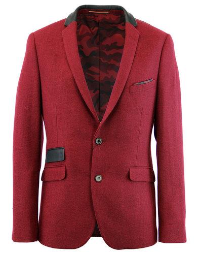 luke roper luke 1977 retro mod tweed blazer red