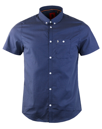 Luke 1977 little ronnie polka dot shirt navy