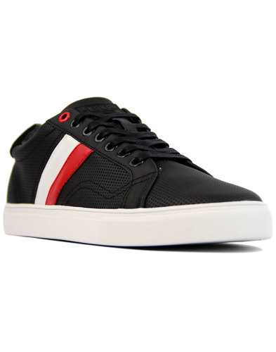 Lynam LUKE 1977 Retro Indie Stripe Trainers BLACK