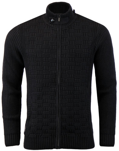 luke 1977 pisteup retro zip turtleneck cardigan